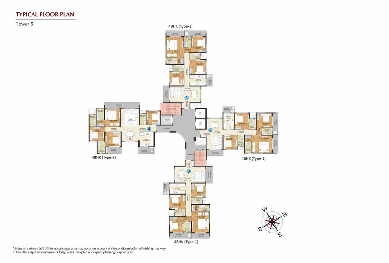 4 BHK : Tower 5