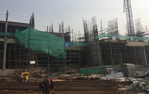 Joyville Gurgaon - Tower 1 - Basement Roof Slab In Progress as on Jan 2020