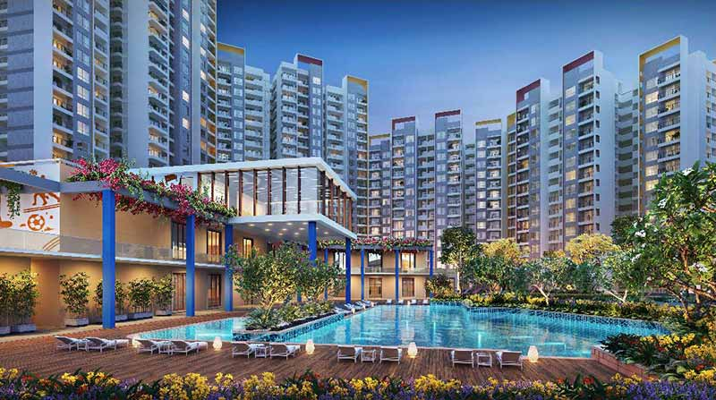 Joyville Gurgaon - Elevation Night View
