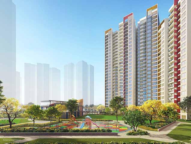 Joyville Gurgaon - Topaz Park Building View