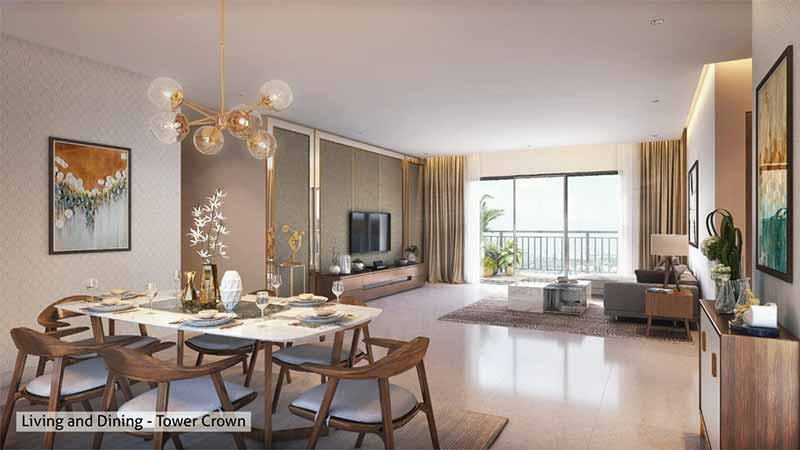 Joyville Gurgaon - Living & Dining Room Crown Tower