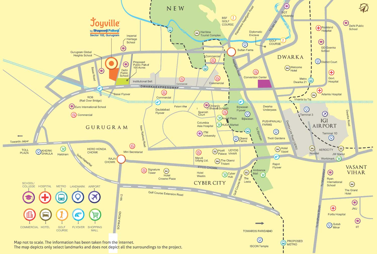 Joyville Gurgaon Location Map